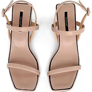 Giày Sandal Gót Trụ 5 phân Sulily SGT1-II20 màu kem