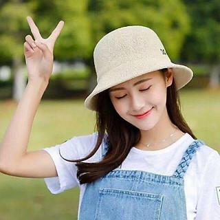 Mũ Cói, Nón Cói Mềm Vành Nhỏ Thời Trang Nữ Hàn Quốc Chữ M