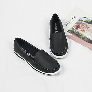Giày Slipon, giày lười nữ da bò thật 100% K499 cao cấp - Chính hãng Kaleea