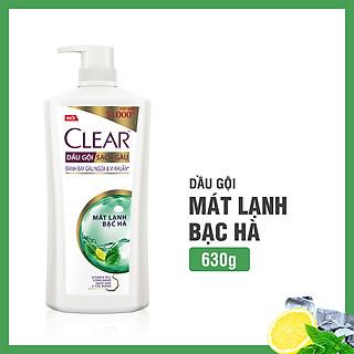Dầu Gội Clear Mát Lạnh Bạc Hà (630g)
