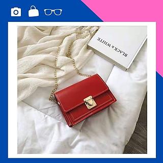 Túi nữ đeo chéo thời trang khóa sập trơn – Túi đeo chéo nữ công sở may bo viền sang trọng – TA0381