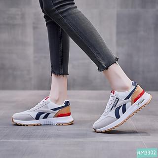 Giày Thể Thao Sneaker Nữ MINSU Classic M3302, Giày Bata Hàn Quốc Nữ Tối Giản Dễ Dàng Mix Đồ Đi Học Đi Chơi, Du Lịch