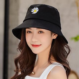 Nón bucket hoa cúc đẹp dành cho nam và nữ hot trend, vải cotton bền đẹp, thêu nổi hoa cúc thời trang - Hạnh Dương