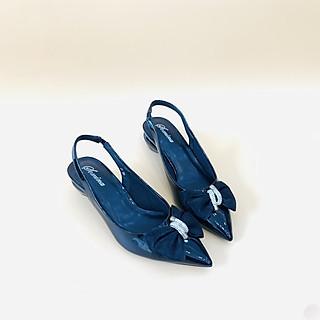 [ Shop giày somina ] Sandal VIP bít mũi 4cm phối nơ MT190