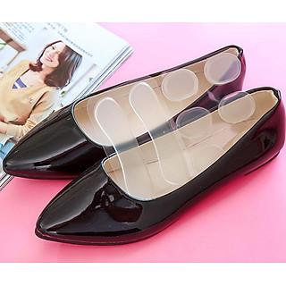 Bộ 10 miếng lót giày trong suốt silicon êm ái cho mọi loại giày