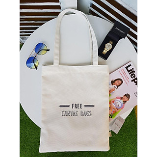 Túi tote vải canvas in chữ free canvas bags