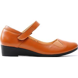 Giày búp bê nữ, cao 3CM, da thật. Mũi tròn, đế xuồng : B.0186.3F