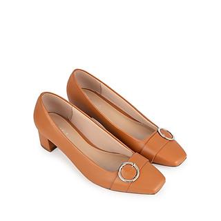 Giày cao gót Sablanca mũi vuông phối khóa tròn cao cao 4cm 5050BV0018