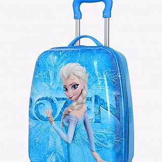 Vali kéo du lịch dành cho bé gái in hình nữ hoàng băng giá kiêu sa