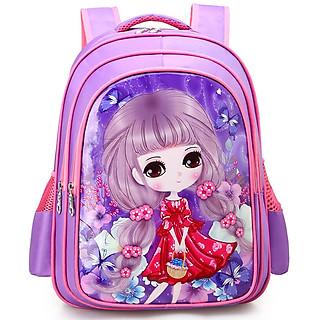 Balo cho bé gái đi học (Tặng 1 bộ bút chì)