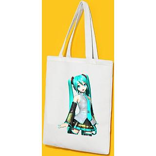 Túi Vải Đeo Vai Tote Bag In Hình Anime Cô Gái Dễ Thương - Mẫu011