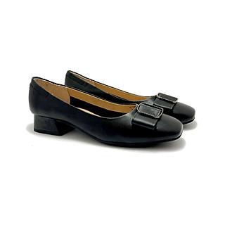 Giày cao gót ZAHAN 2cm, mũi vuông, nơ đá CGZAT145