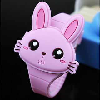 Đồng hồ trẻ em cao cấp dây silicon siêu bền cho bé gái - Ledthotim