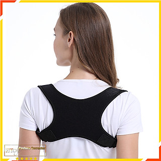 Đai chống gù lưng nam nữ HT SYS Posture Corrector-Kiểu dáng chữ X-Freesize-Màu đen