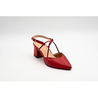 Giày Sandals SDC-13 Gót 6 Phân Bít Mũi Phối Quai Chéo Sac & Chic