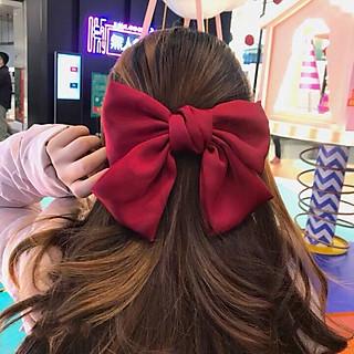 Kẹp tóc nơ Hàn Quốc bản to, kẹp nơ sau dễ thương cực đẹp KT13 với chất liệu vải cao cấp đường may tinh tế