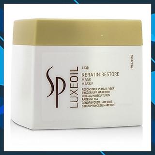 Dầu hấp ủ phục hồi tóc hư tổn cao cấp Wella SP Keratin Luxe Oil hair mask 400ml chính hãng Đức
