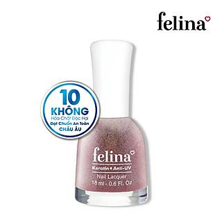 Sơn móng tay Felina 18ml CK102 Kim Tuyến Hồng Ngũ Sắc