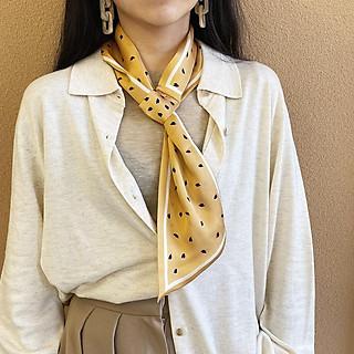 Khăn lụa đa năng thời trang Hàn Quốc quàng cổ và làm phụ kiện thời trang AKL25 họa tiết nhỏ