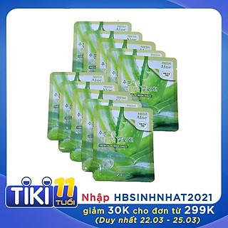 Combo 10 Túi mặt nạ giấy dưỡng ẩm -Mặt nạ dưỡng da chiết xuất từ lô hội 3W Clinic Hàn Quốc 23mlx10