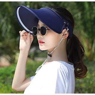 Mũ chống nắng chống uv phong cách Hàn, nón rộng vành nửa đầu chống nắng cao cấp