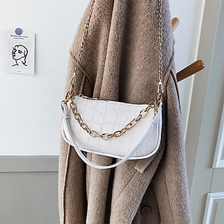 Túi xách nữ, túi kẹp nách nữ đeo chéo da vân cá sấu dây xích cực đẹp TX41 với thiết kế hiện đại