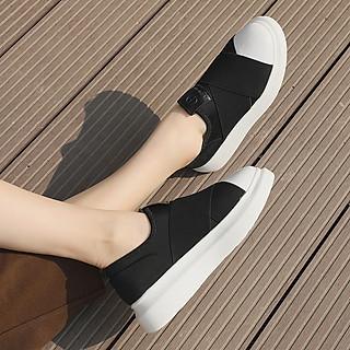 Giày Nữ Sneaker Dáng Thể Thao Siêu Đẹp, Kiểu Dáng Hàn Quốc Đan Dây Chéo Nhau Màu Đen Cực Hot