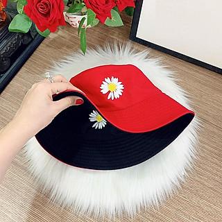 Mũ BUCKET 2 Mặt_ hoa cúc THỜI TRANG HÀN QUỐC