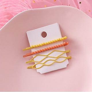 Bộ kẹp tóc màu kẹo Hàn Quốc_Mã C