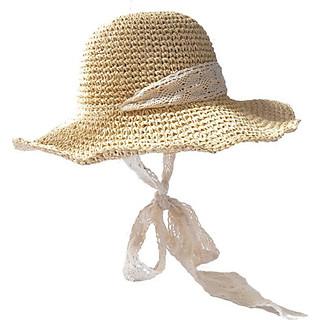 Mũ cói đi biển mũ cói mềm tiểu thư phong cách Vintage M18-01