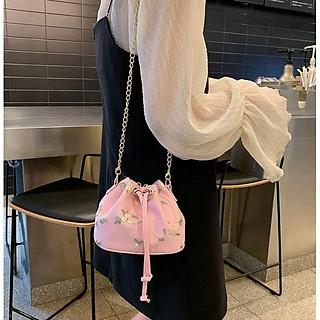 Túi nữ, túi đeo chéo miệng túi dây rút