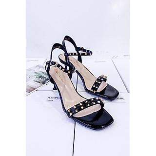 Giày Sandal Nữ Gót Nhọn 5p Hai Quai Đinh