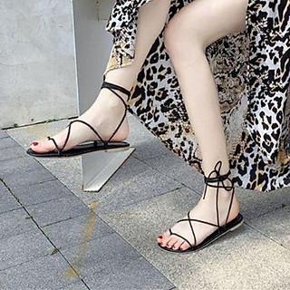 Giày sandal Thắt Dây Bản Ngang Xỏ Ngón quai gài TAS40