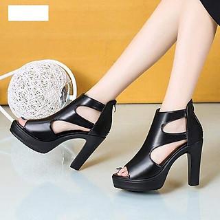 Giày cao gót đế đúp quai hở hông hàng cao cấp