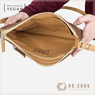 Túi Đeo Chéo Nữ Cao Cấp Phối Khóa - SMALL CROSSBODY PURSE - HGcork Corkor CK159 - Vật liệu da cork thực vật thuần chay - Sản phẩm Handmade, Sản xuất tại Bồ Đào Nha
