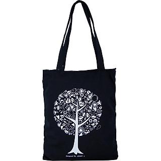 Túi Vải Đeo Vai Tote Bag Cây Đen XinhStore