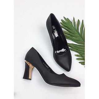 Giày cao gót 7cm da lì form chuẩn GXK039