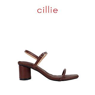 Giày sandal nữ quai dây ngang cao 5cm Cillie 1231