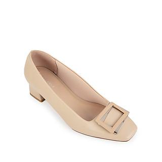 Giày cao gót Sablanca bít mũi vuông phối nơ 5050BV0017