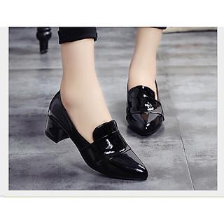 Giày cao gót công sở da bóng cao cấp