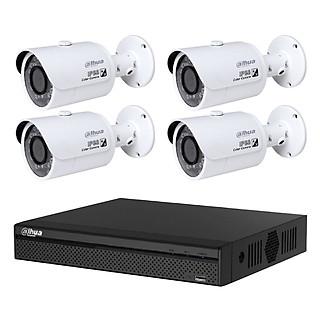 Trọn bộ 4 Camera giám sát Dahua HD CVI 2 Megapixel HAC-HFW1200SP-S3 FULL 1080 - Hàng chính hãng