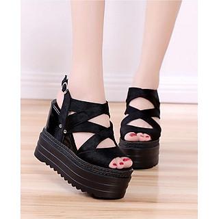 Giày Sandal nữ đế xuồng cá tính S114