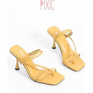 Giày Sandal Cao Gót 7cm Quai Mảnh Xỏ Ngón Pixie X483
