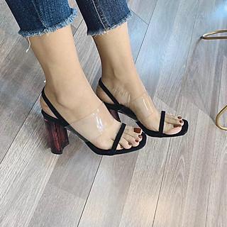 Giày cao gót màu gót lạ vân gỗ