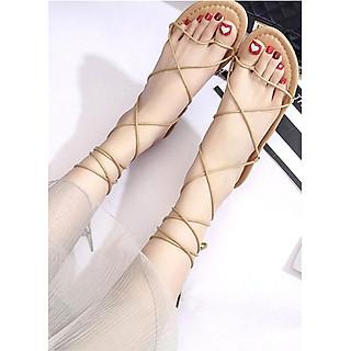 Giày sandals buộc dây kiểu chiến binh C62 nâu