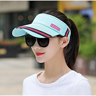 Mũ lưỡi trai nửa đầu thể thao phong cách Hàn màu xanh, nón chống nắng thể thao nữ