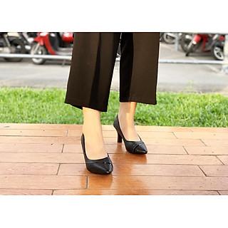 Giày Cao Gót Thời Trang GMIC Cao 7P Cao Cấp Chất Lượng | Giày Cao Gót Mũi Nhọn Kiểu Viền Hong sang Trọng NH638