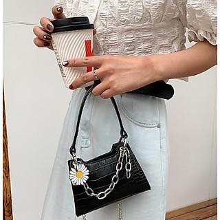 Túi xách nữ đeo chéo dây xích  mini hoa cúc thời trang cực đẹp TX40