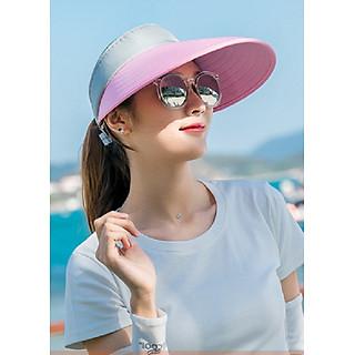 Mũ chống nắng nửa đầu rộng vành nữ, nón chống năng nữ thời trang