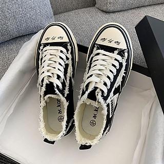 Giày sneaker nữ HAPU Xvessell styles rách phong cách mới nhất , siêu Hot Trend 2020